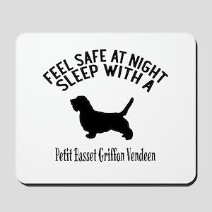 Feel Safe At Night Sleep With petit bass Mousepad