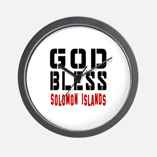 God Bless Solomon Islands Wall Clock