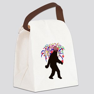Squatchin for Indepandence Day Canvas Lunch Bag