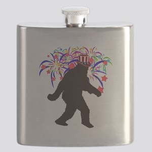 Squatchin for Indepandence Day Flask