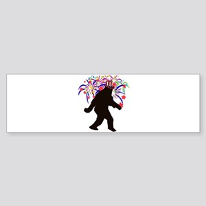 Squatchin for Indepandence Day Bumper Sticker