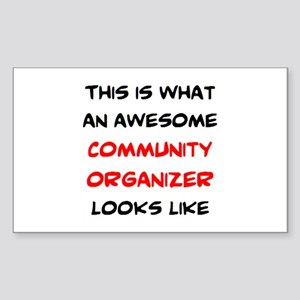 awesome community org Sticker (Rectangle)