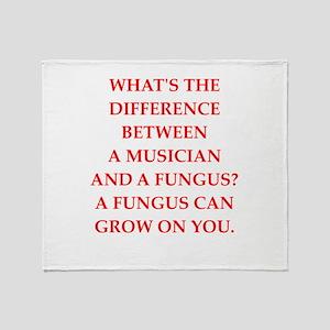 funny fungus joke Throw Blanket