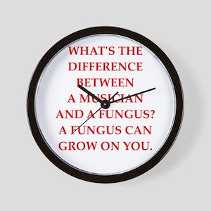 funny fungus joke Wall Clock