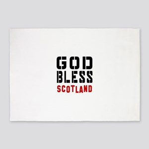 God Bless Scotland 5'x7'Area Rug