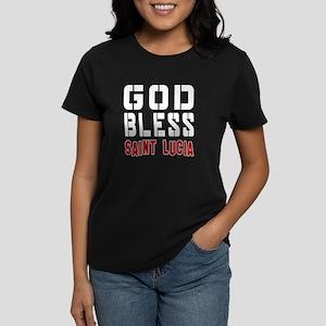 God Bless Saint Lucia Women's Dark T-Shirt
