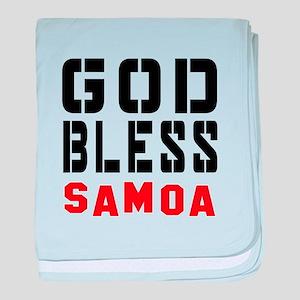 God Bless Samoa baby blanket