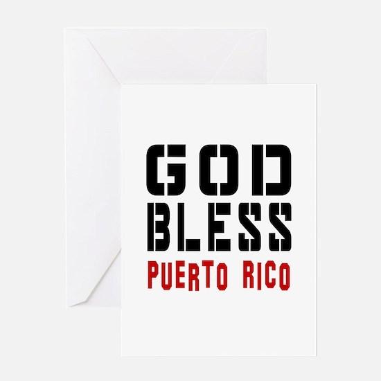 God Bless Puerto rico Greeting Card