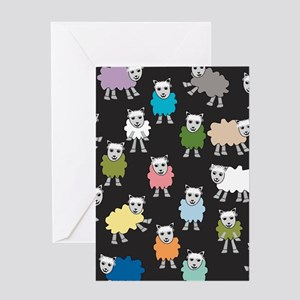 Cute Sheeps Greeting Cards