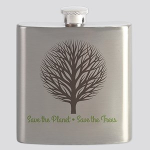 Save the Planet . . . Save the Trees Flask