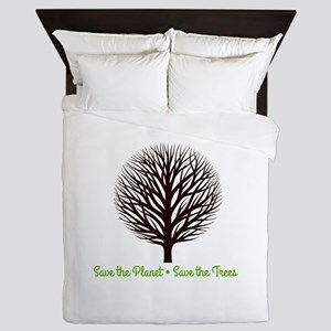 Save the Planet . . . Save the Trees Queen Duvet