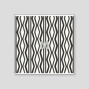 Chic Geometric Pattern Monogrammed Sticker