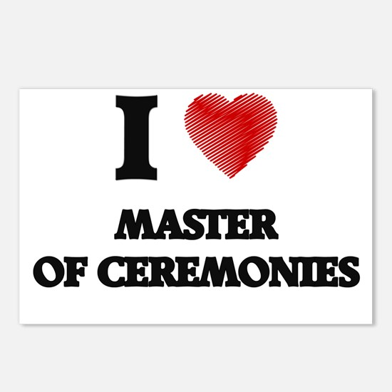 I Love Master Of Ceremoni Postcards (Package of 8)