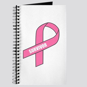 Survivor (Breast Cancer Ribbon) Journal
