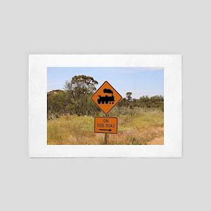 Train engine locomotive sign, Australi 4' x 6' Rug