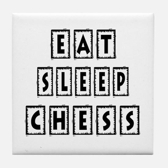 Eat Sleep Chess Tile Coaster