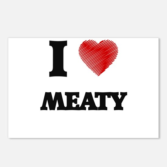 I Love Meaty Postcards (Package of 8)