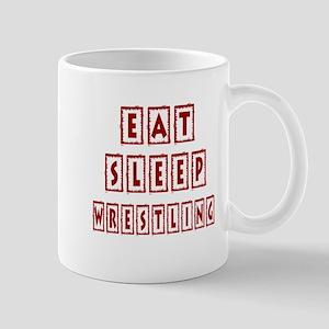 Eat Sleep Wrestling Mug