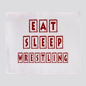 Eat Sleep Wrestling Throw Blanket