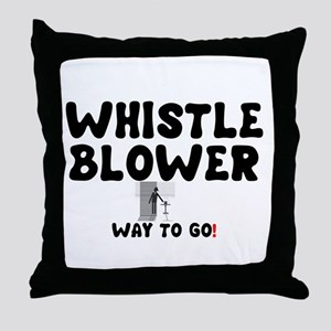 WHISTLE BLOWER - WAY TO GO! Throw Pillow