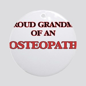 Proud Grandma of a Osteopath Round Ornament