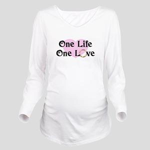 One Life One Love Pi Long Sleeve Maternity T-Shirt
