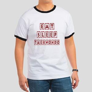 Eat Sleep Taekbondo Ringer T