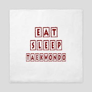 Eat Sleep Taekbondo Queen Duvet