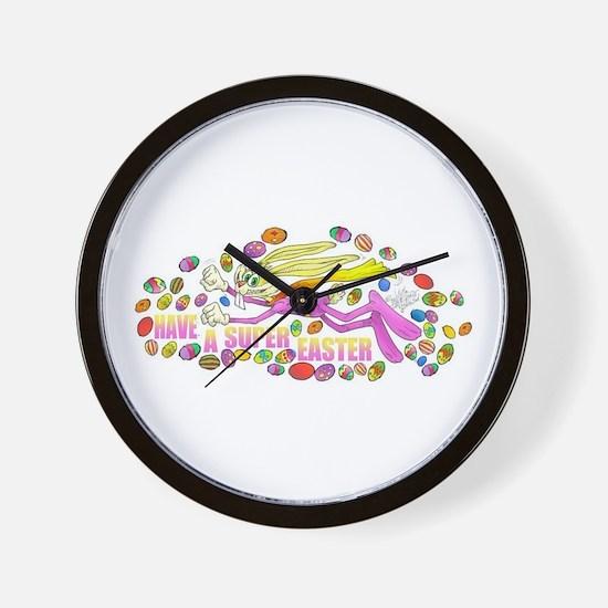 Cute Super bunny Wall Clock