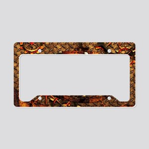 Awesome steampunk design License Plate Holder