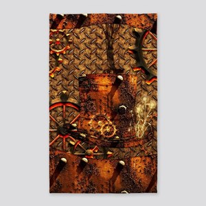 Awesome steampunk design Area Rug