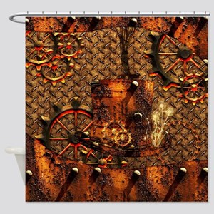 Awesome steampunk design Shower Curtain