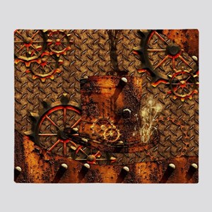 Awesome steampunk design Throw Blanket