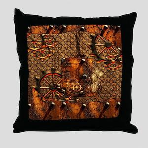 Awesome steampunk design Throw Pillow