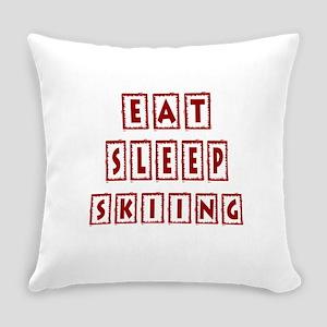 Eat Sleep Skiing Everyday Pillow