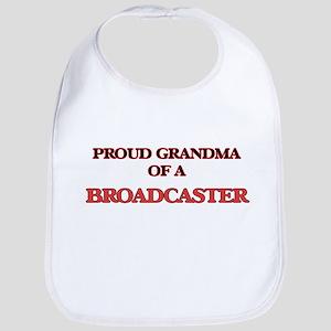 Proud Grandma of a Broadcaster Bib