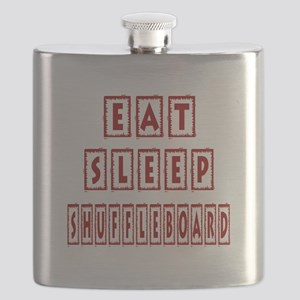 Eat Sleep Shuffleboard Flask