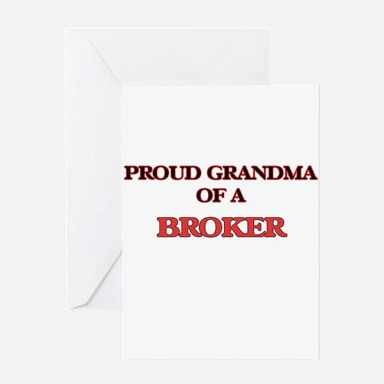 Proud Grandma of a Broker Greeting Cards