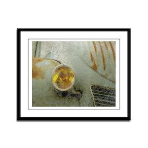 Vintage Citroen Close-up Framed Panel Print