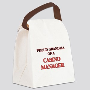 Proud Grandma of a Casino Manager Canvas Lunch Bag