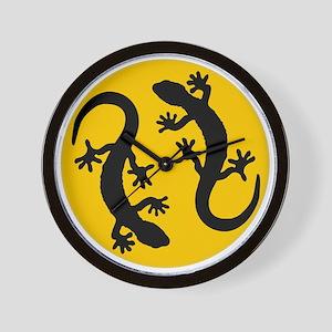 two geckos Wall Clock
