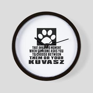 Kuvasz Awkward Dog Designs Wall Clock