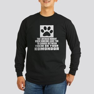 Komondor Awkward Dog Desi Long Sleeve Dark T-Shirt