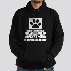 Komondor Awkward Dog Designs Hoodie (dark)