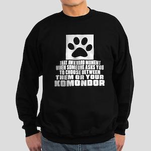 Komondor Awkward Dog Designs Sweatshirt (dark)