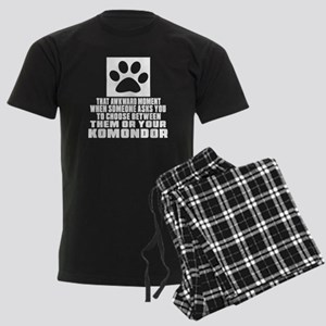 Komondor Awkward Dog Designs Men's Dark Pajamas
