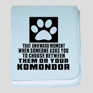 Komondor Awkward Dog Designs baby blanket