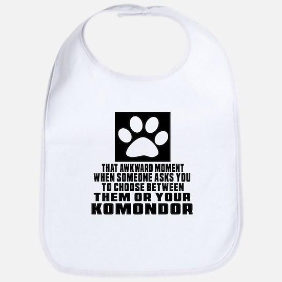 Komondor Awkward Dog Designs Bib