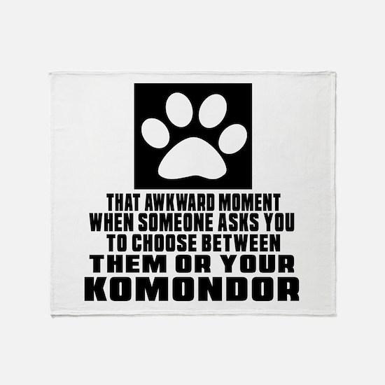 Komondor Awkward Dog Designs Throw Blanket