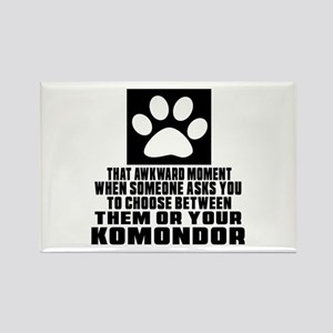 Komondor Awkward Dog Designs Rectangle Magnet